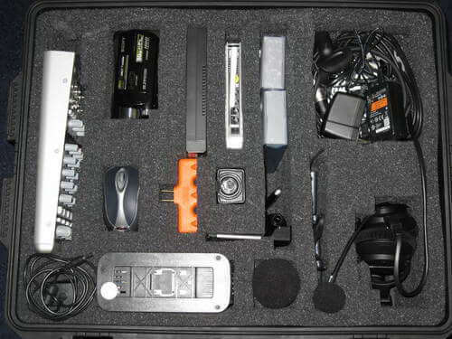 Portable Podcast Gear Packed