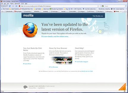 xp27 7 firefox after re-install
