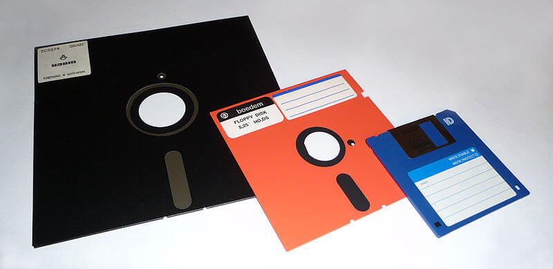 "8"", 5.25"" and 3.5"" floppy disks"