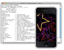 Corona Debugger on iPhone