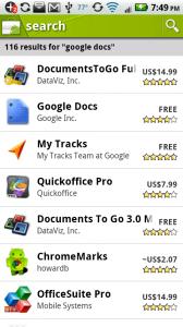 android market google docs