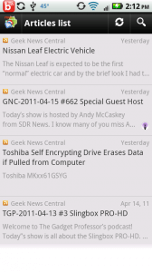 D7 Google Reader article display