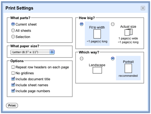Google Docs Gets Pagination And Better Spreadsheet Printing - Google docs spreadsheet