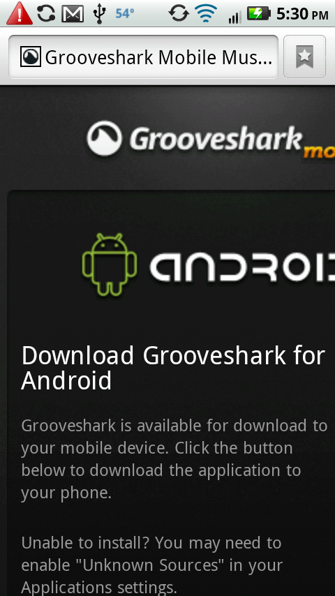 grooveshark for android