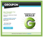 groupon personalize email