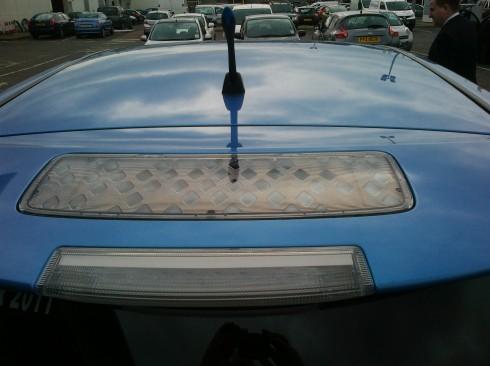 Nissan Leaf Roof Spoiler Solar Cells