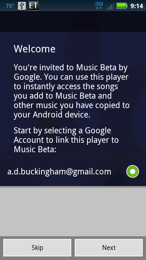 android welcome to google music