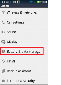 android battery and data manager