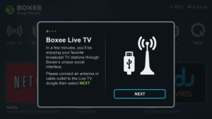 Boxee screen