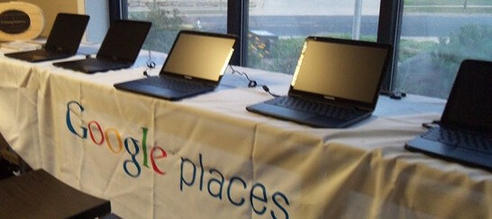 Chromebook Display at Google Places Event