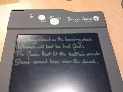 Boogie Board Rip Handwriting