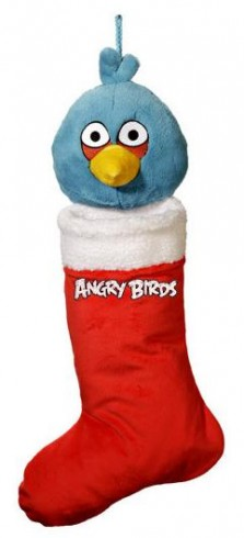 Blue Bird Christmas Stocking