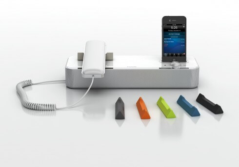 Invoxia nvx-610 Desktop Phone and iPhone Dock