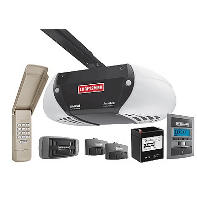 Craftsman AssureLink Internet Connected DC Belt Drive Garage Door Opener with DieHard Battery Backup