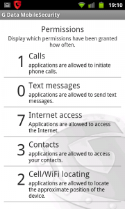 G Data Mobile Security Permissions