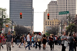 "daytime street scene credit brittany ryan small ""Homeless Hotspots"" Raise Hackles at SXSW"