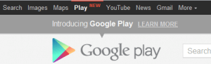google toolbar with play