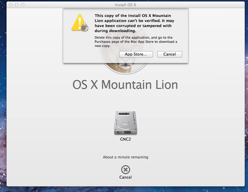 OS X Mountain Lion Application Can't be Verified! - Geek