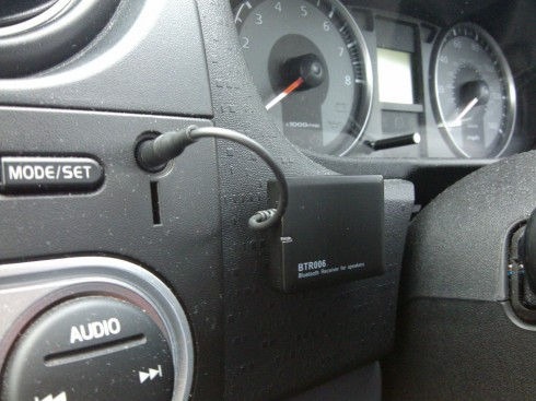 BTR006 Installed in Car with Velcro