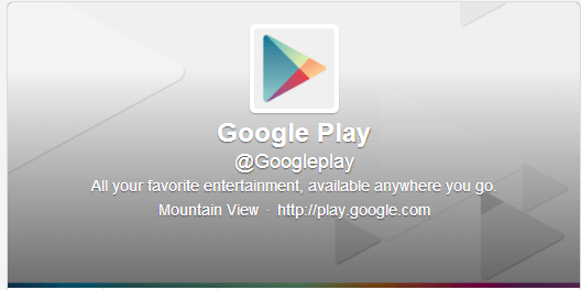 google play twitter account