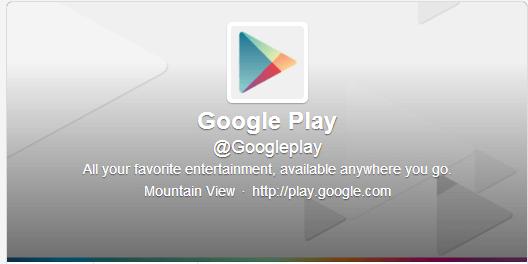 google play twitter account