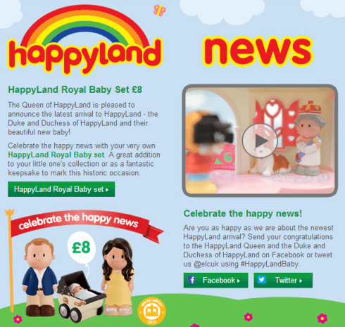 HappyLand Royal Baby Set
