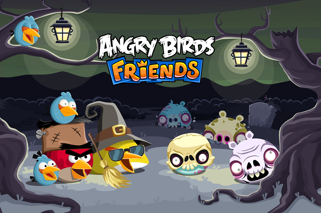 angry birds friends halloween