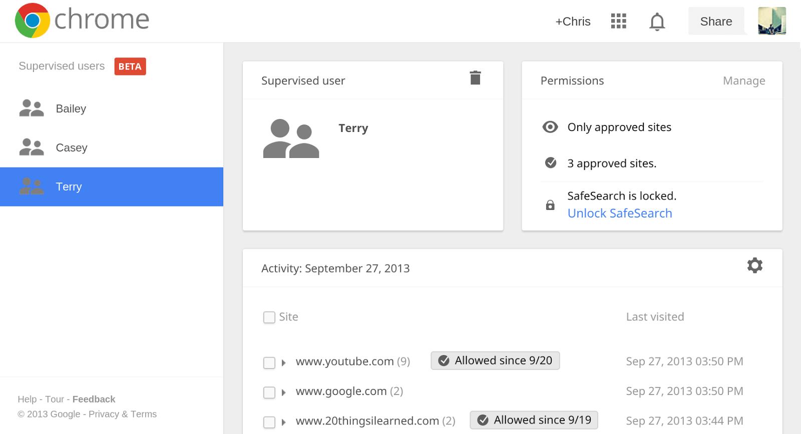 google-supervised-users