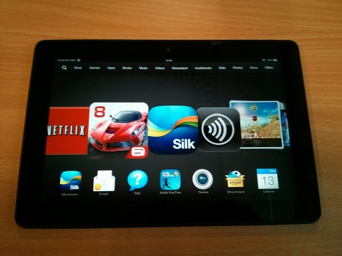 Kindle Fire HDX Front