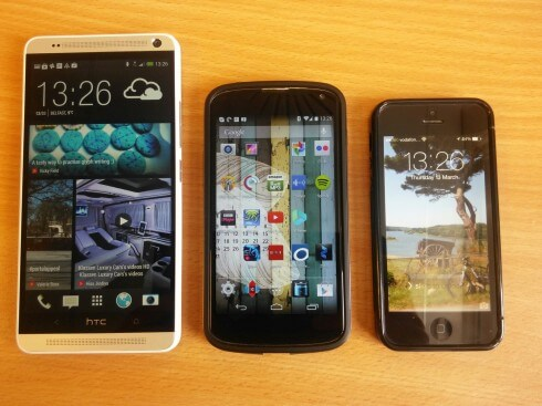 HTC One Max, Nexus 4 and iPhone 5