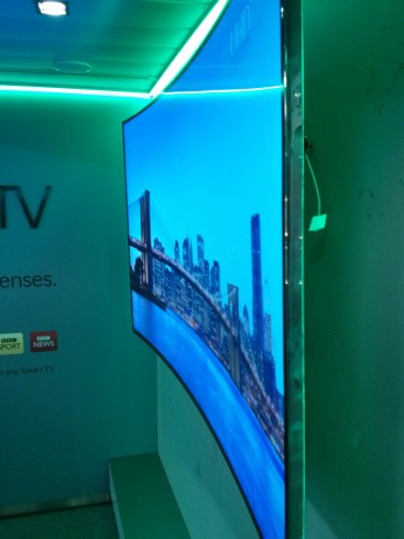 Curved Samsung Screen