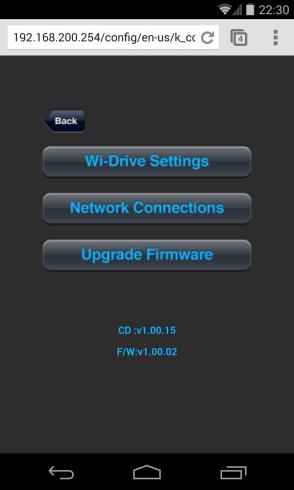 Wi-Drive Web Interface