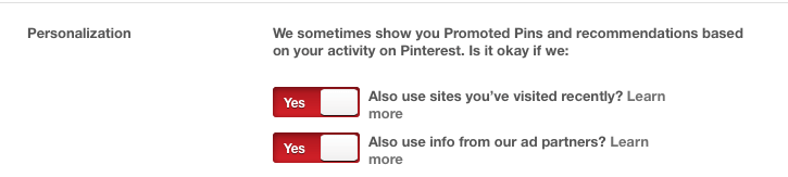 Opt Out of Promoted Pins