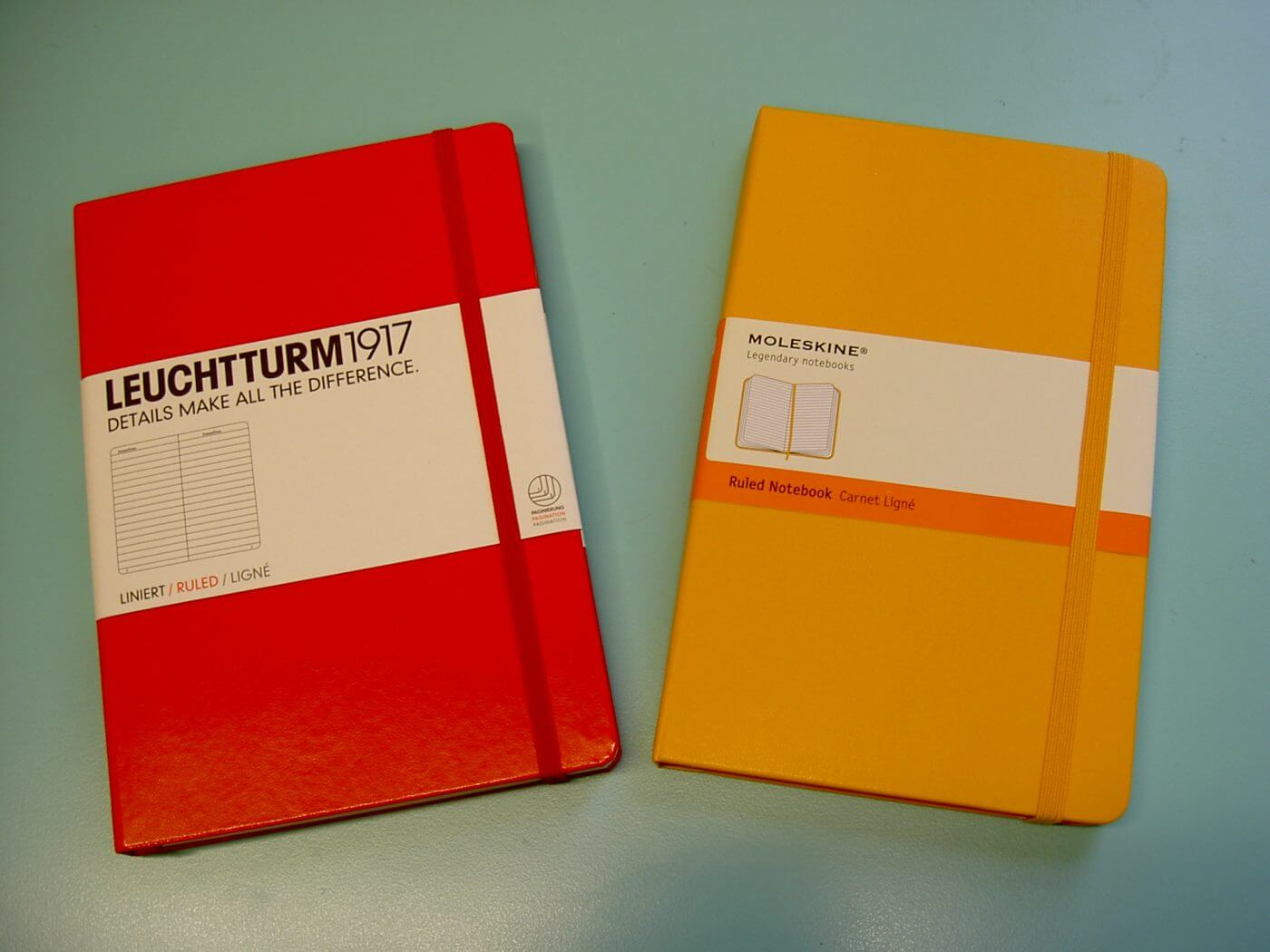 Leuchtturm1917 and Moleskine Notebooks