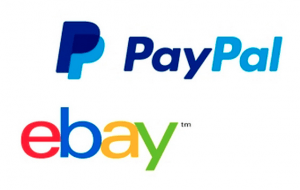 PayPal and eBay logos