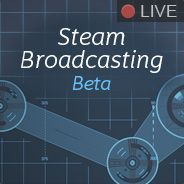 Steam Broadcasting beta logo