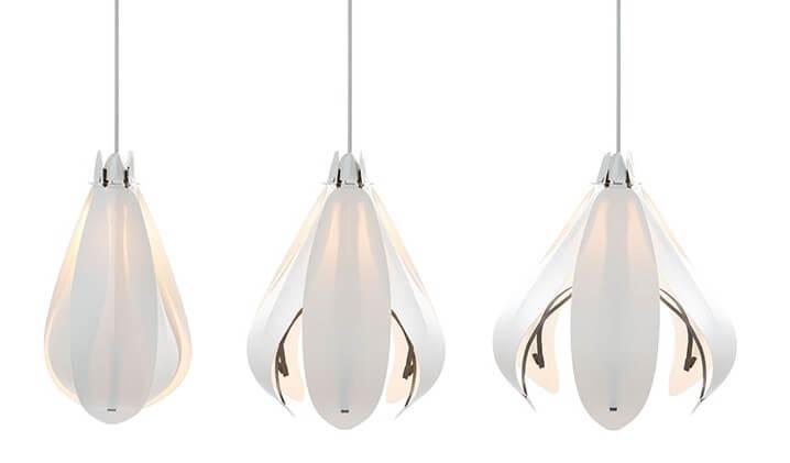 White Flower Lamps