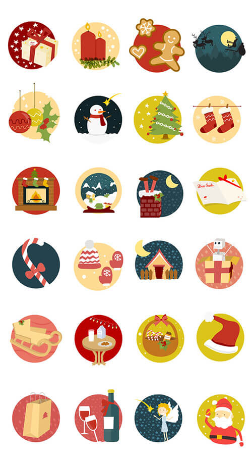 Smashing Magazine Xmas Icon Set
