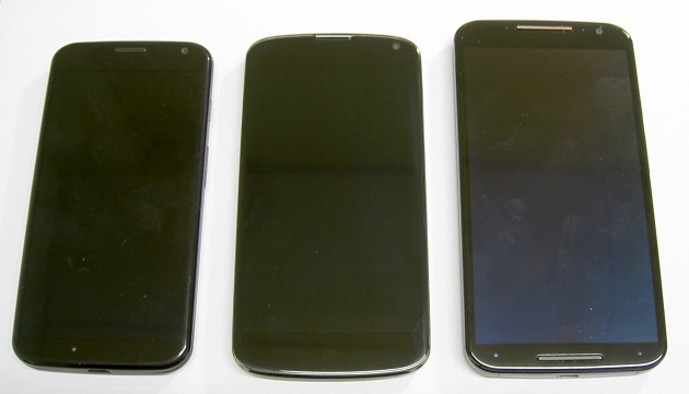 Motorola Moto X and Nexus 4