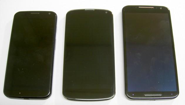 Motorola Moto X and Nexus 4