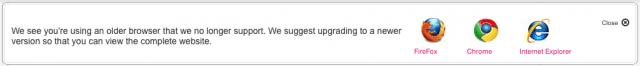T-Mobile website browser warning