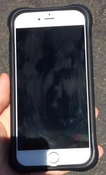 iPhone 6 Plus before anti-glare film