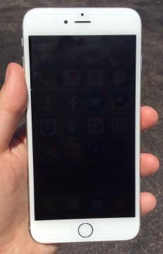 iPhone 6 Plus after anti-glare film