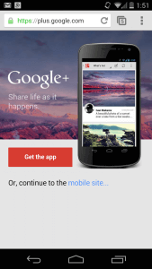 Google App Interstitial ad
