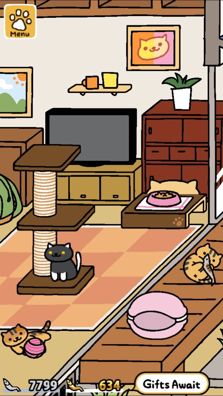 neko atsume is now in english geek news central. Black Bedroom Furniture Sets. Home Design Ideas