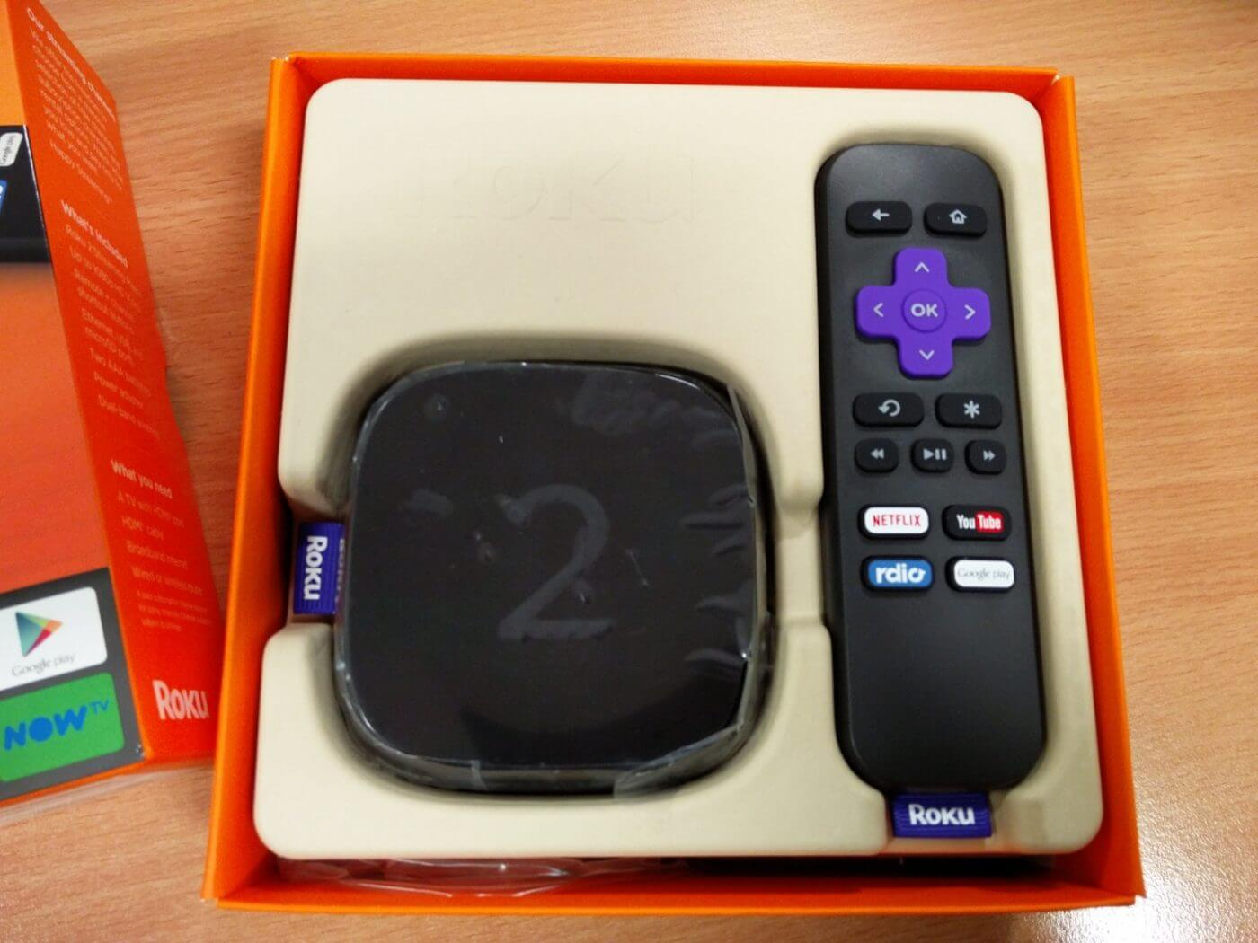 Roku 2 inside box