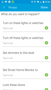 SmartThings Routine Features