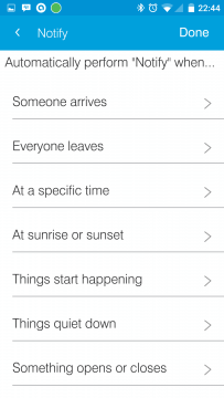 SmartThings Routines When