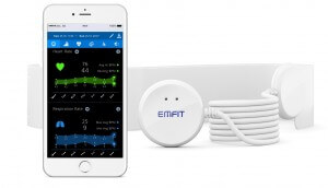 Emfit QS device and sensor with iPhone
