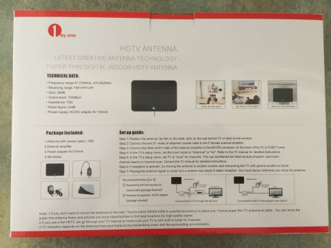 ibyone HDTV antenna box back